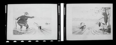 Film negative: Boon copy of 'Wal and Dog', two images