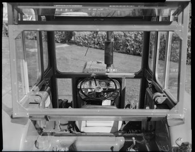 Film negative: International Harvester Company: cab, interior view