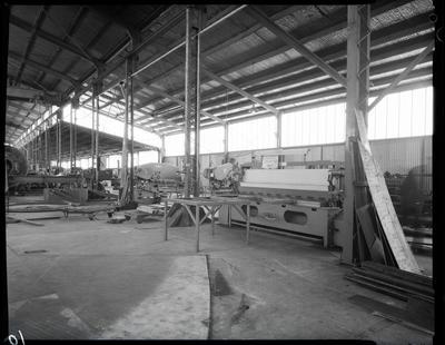 Film negative: International Harvester Company: F W Matthews Engineers, interior of factory