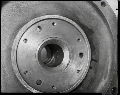 Film negative: International Harvester Company: damaged casting