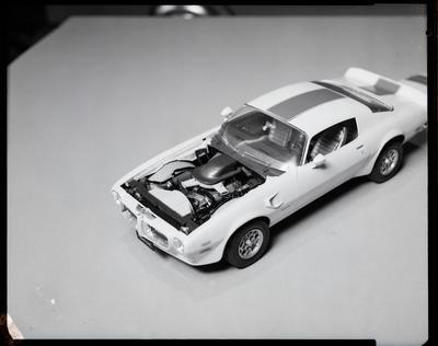 Film negative: Model car at Te Rapa, Mrs Terrapper?