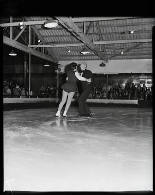 Film negative: Auckland Ice Skaters, a pair skating