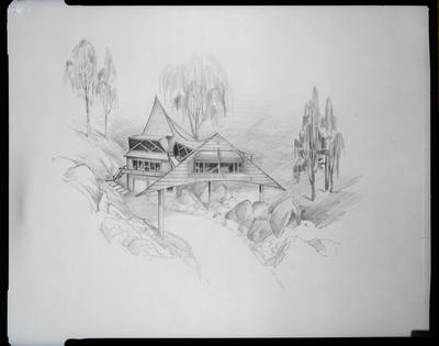 Film negative: Screen Sign Arts, drawing of house