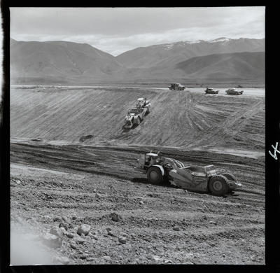 Film negative: International Harvester Company: scraper and bulldozer