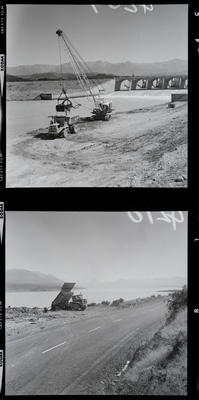 Film negative: International Harvester Company: dragline loading truck
