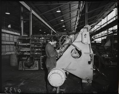 Film negative: International Harvester Company: front axle unit