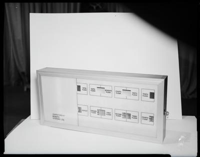 Film negative: Benefits Fire Alarm, display box