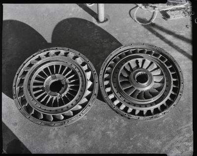 Film negative: International Harvester Company: damaged torque converter