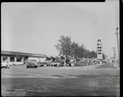 Film negative: International Harvester Company: branch building at Blenheim Road, Christchurch