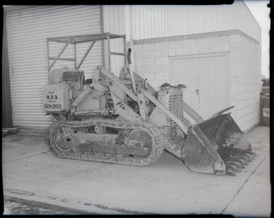 Film negative: International Harvester Company: caterpillar tractors