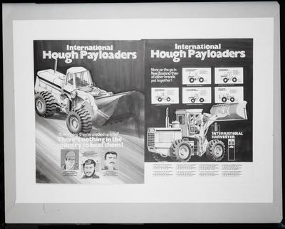Film negative: International Harvester Company: plough artwork