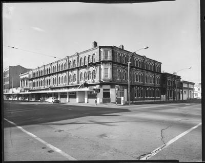 Film negative: People's Palace Building, Mr Lawrence Godfrey