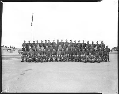 Film negative: Burnham, Regional Training Depot, staff group