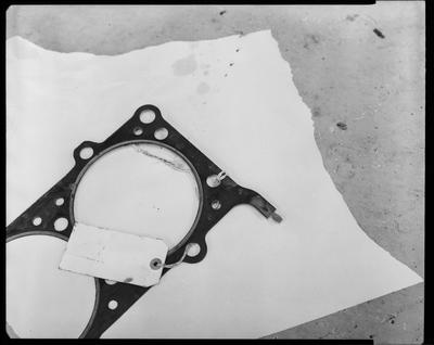 Film negative: International Harvester Company: damaged gasket parts