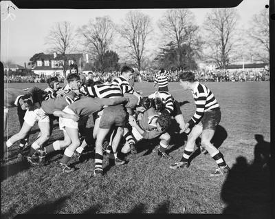Film negative: Christ's College - St Andrews College, rugby game