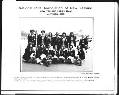 Film negative: National Rifle Association, New Zealand women Team, Mrs June Robertson