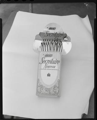 Film negative: International Harvester Company: Bic pens in a box