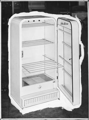 Film negative: K T Marriott Furniture, clothes dryer