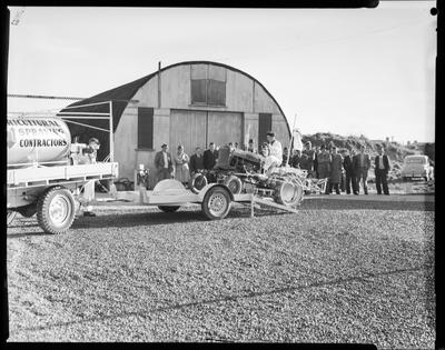 Film negative: Canterbury Seed Company, loading tractor