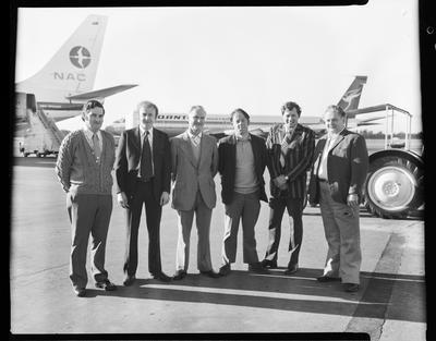 Film negative: International Harvester Company: service group to Australia by TEAL