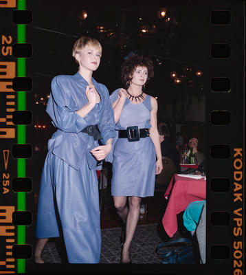 Negative: New Zealand Light Leathers Fashion Show Two Women
