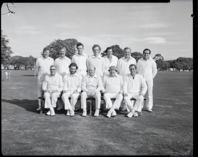 Film negative: Christchurch Working Men's Club, cricket, vs Wellington