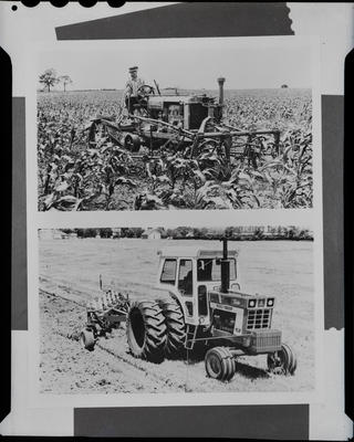 Film negative: International Harvester Company: old and new tractors