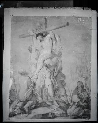 "Film negative: Mr D Janus, ""The Crucifixion"""