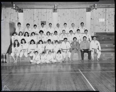 Film negative: Burnham Martial Arts Tournament, team of thirty