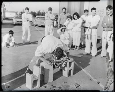 Film negative: Burnham Martial Arts Tournament, Karate demonstration
