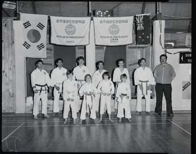 Film negative: Burnham Martial Arts Tournament, Linton Tae-Kwon-Do