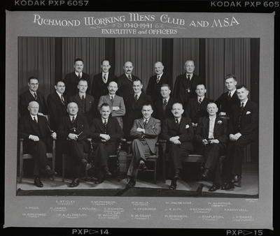 Negative: Richmond Working Men's Club Portrait Copy
