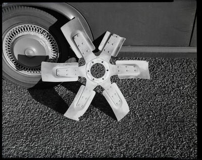 Film negative: International Harvester Company: damaged part, truck fan