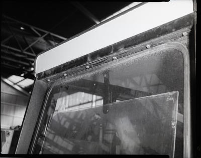 Film negative: International Harvester Company: rusted tractor cab