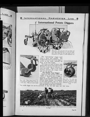 Film negative: International Harvester Company: catalogue from 1939, potato diggers