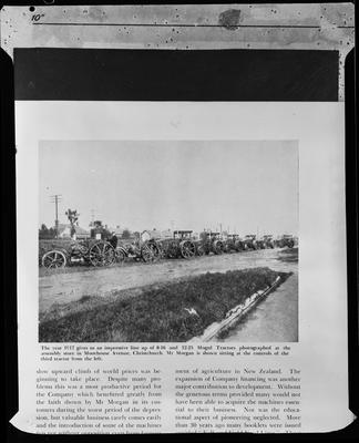 Film negative: International Harvester Company: catalogue from 1939, Mogul tractors, 1917 Moorhouse Avenue
