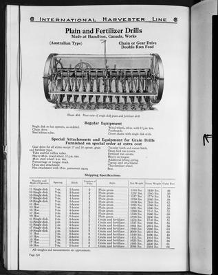 Film negative: International Harvester Company: catalogue from 1939, plain and fertilizer drills