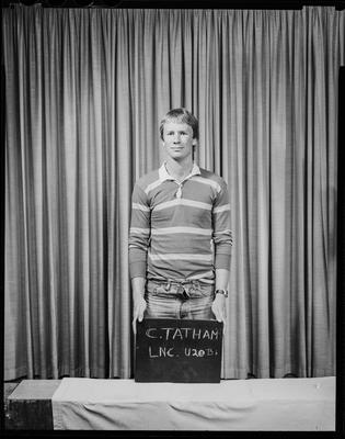 Film negative: Lincoln College, football team, Mr C Tatham, under 20 'B' gold