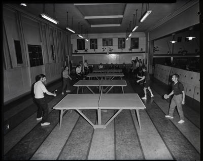 Film negative: Christchurch Working Men's Club, image for a book, table tennis