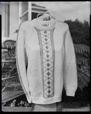 Film negative: Mr Evans, men's knitwear