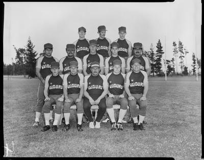 Film negative: Burnham, inter-district softball teams, group of thirteen