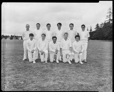 Film negative: Burnham, inter-district cricket teams, group of eleven