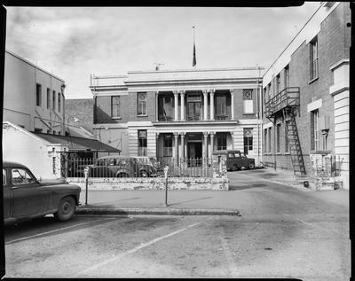 Film negative: Christchurch Working Men's Club, building