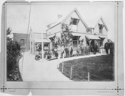 Film negative: Christchurch Working Men's Club, old club building