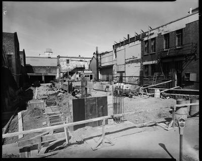 Film negative: Christchurch Working Men's Club, rebuilding views