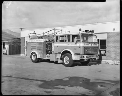 Film negative: International Harvester Company: fire engine assembly