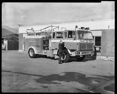 Film negative: International Harvester Company: fire engine
