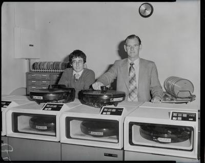 Film negative: International Harvester Company: computer staff