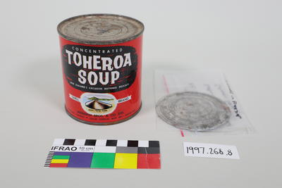 Empty Tin: Toheroa Soup