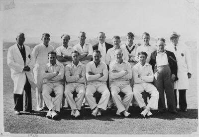 Film negative: Christchurch Working Men's Club, cricket